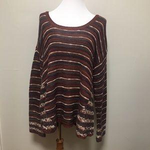 Maurices Striped Acrylic Sweater XXL